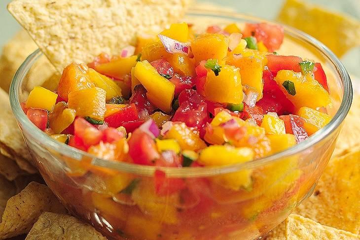 Őszibarack salsa