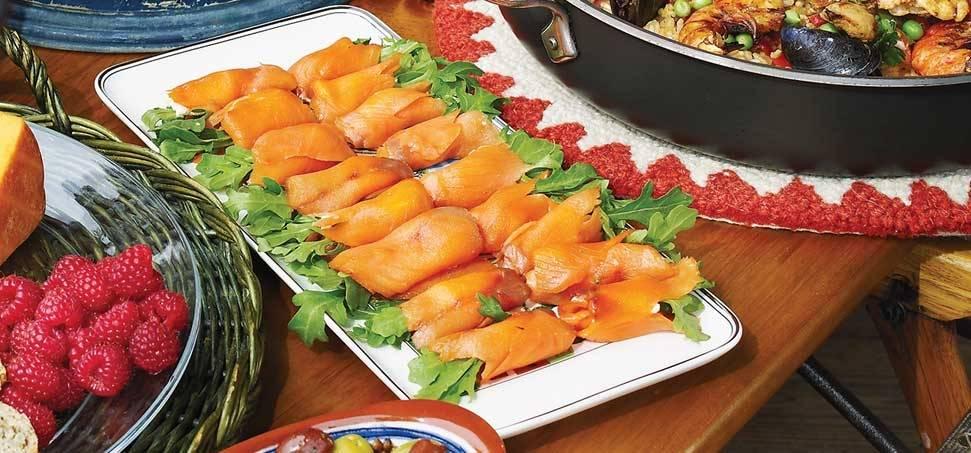 Füstölt lazac wasabis sajtkrémmel