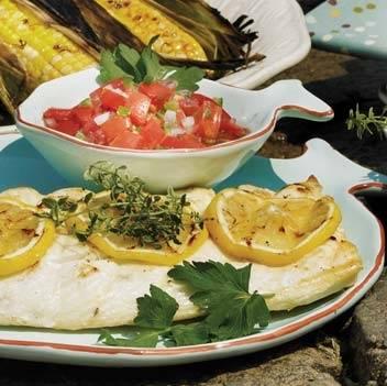 Grillezett csuka mexikói salátával