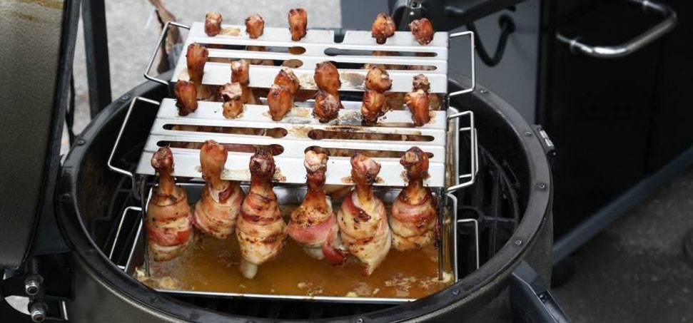 Baconbe csomagolt csirkecombok