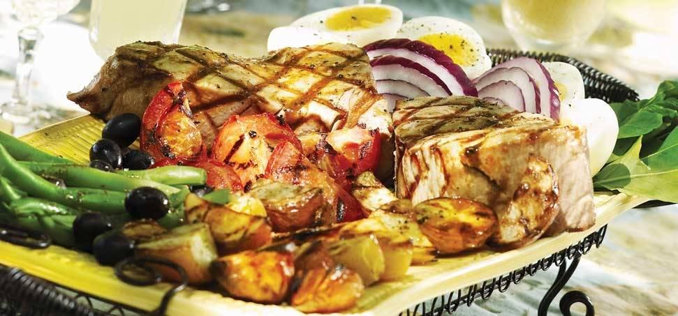 Grillezett tonhal saláta