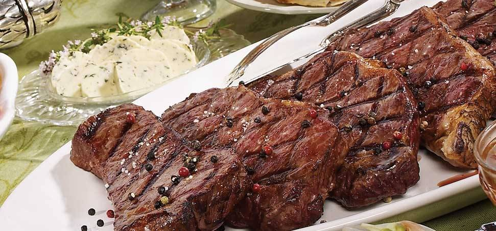 New York steak kék sajtos vajjal