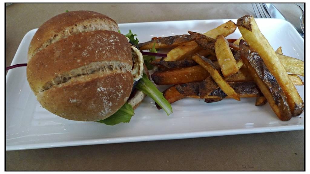 Grillezett gombás szendvics