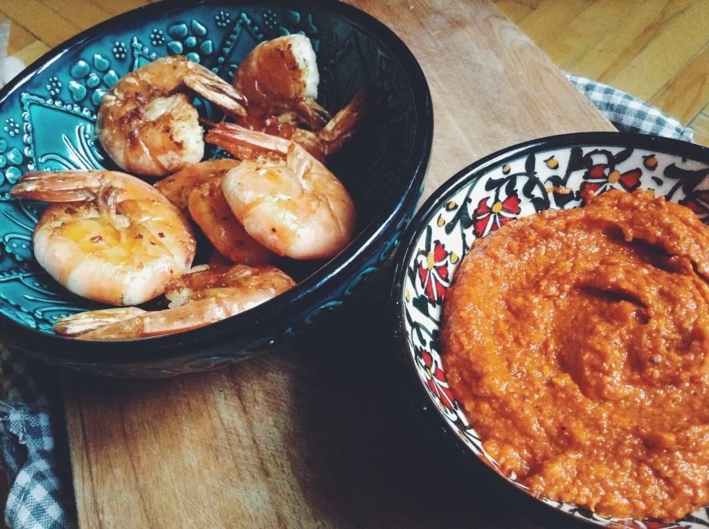 Grillezett rák édes paprika szósszal