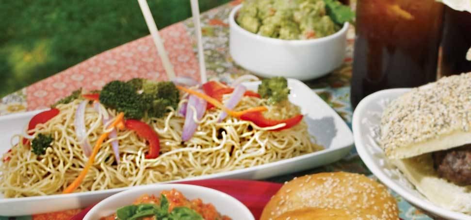 Csípős ázsiai tészta saláta