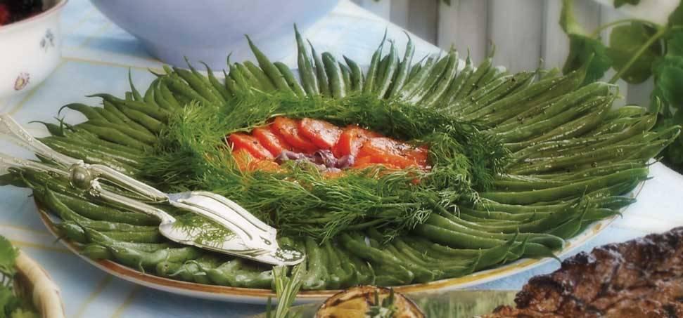 Zöldbab saláta