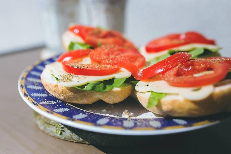 Zöldséges grill szendvics