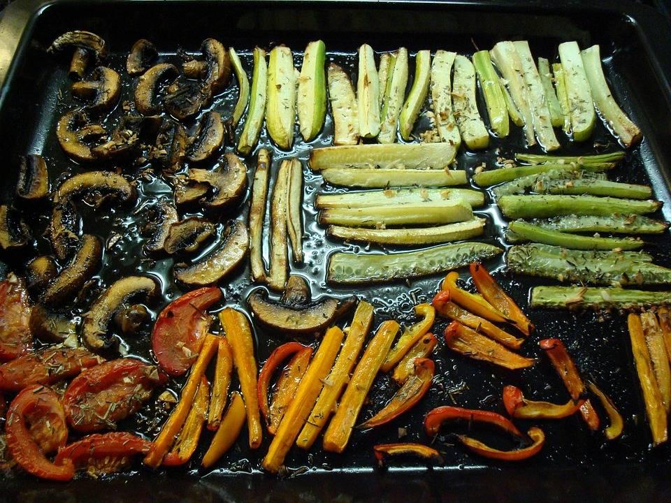 Kecskesajtos grillzöldség