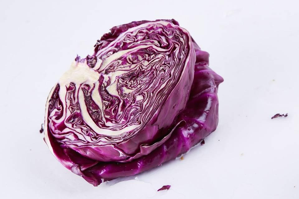 Grillezett lila káposzta
