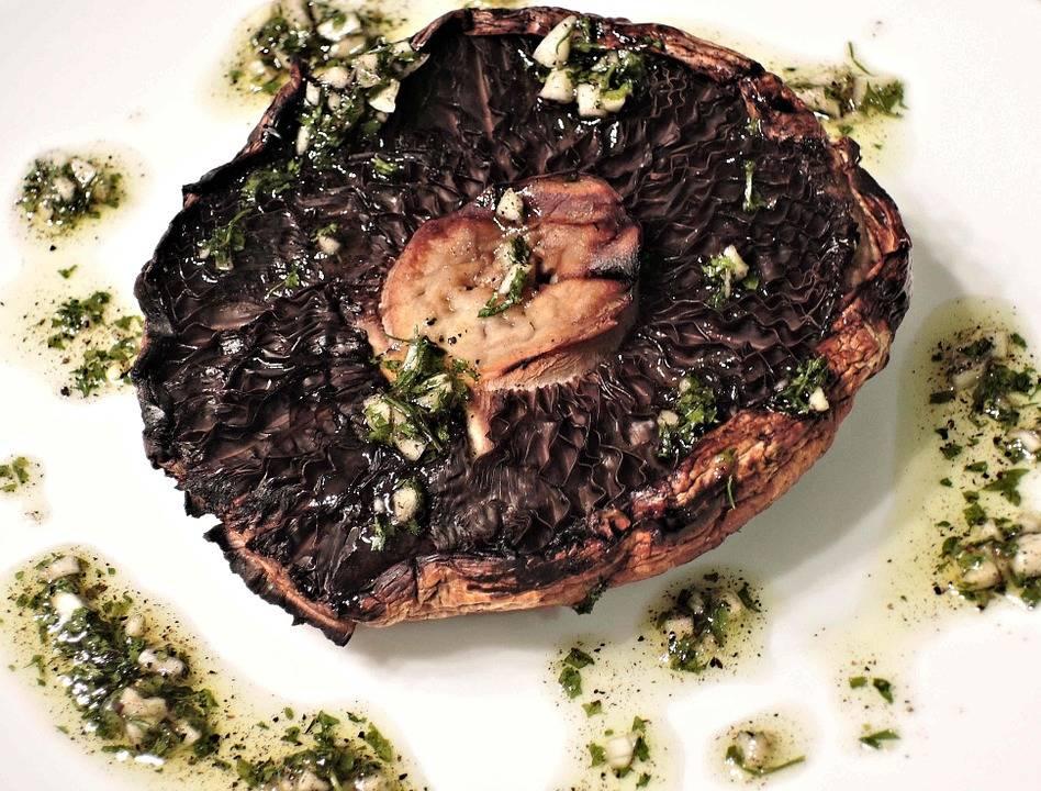 Grillezett portobello burger