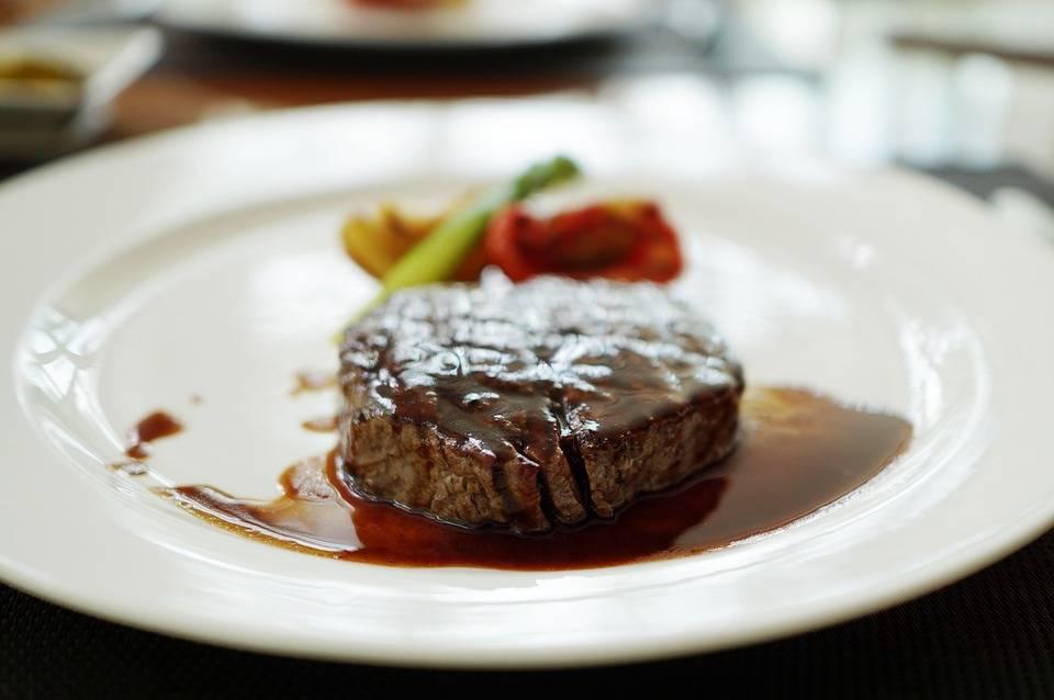 Angus steak boros sósszal