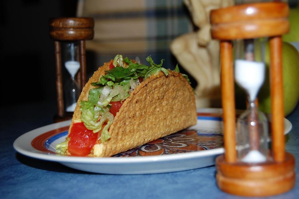 Halas  taco a grillről