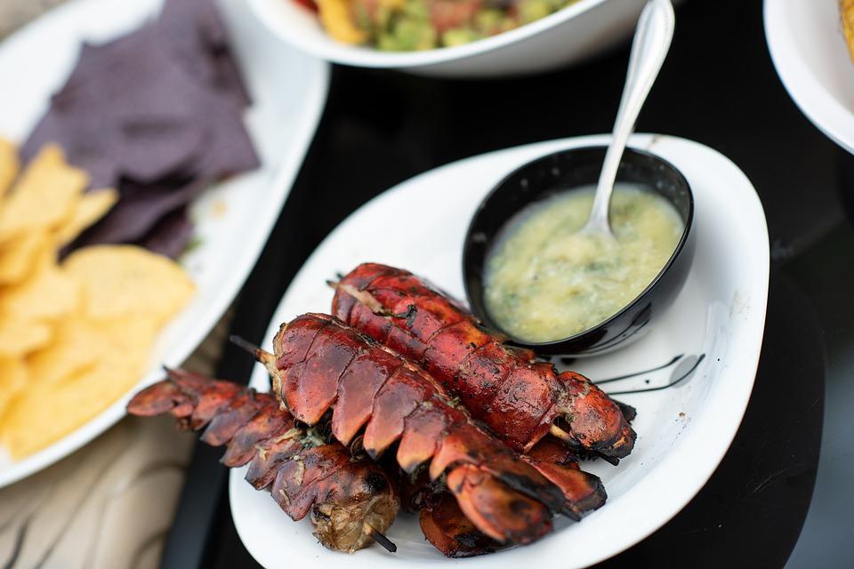 Grillezett homárfarok