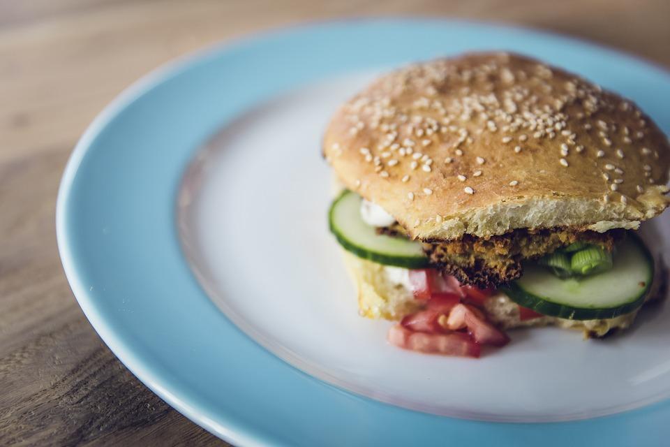 Egyszerű vegetáriánus burger