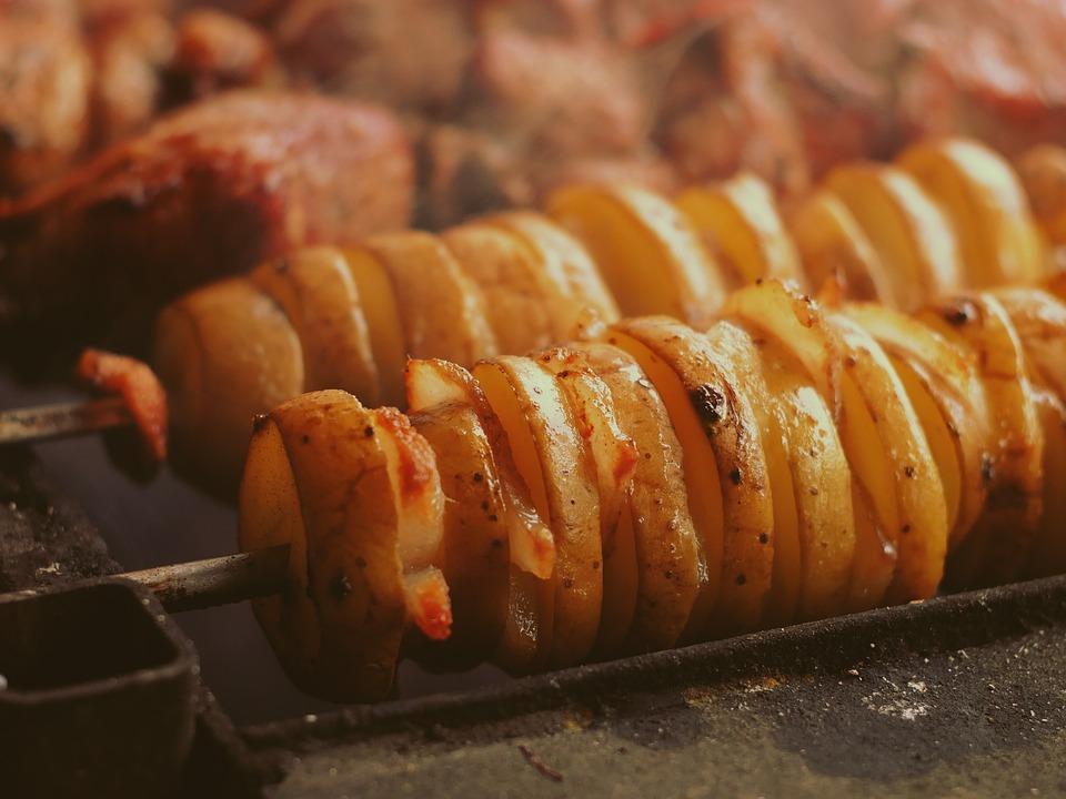 Grillezett burgonyasaláta baconnel
