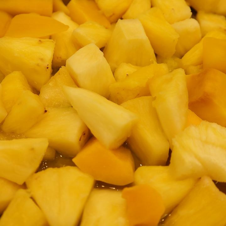Rumba áztatott grillezett ananász
